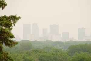 Hazy sky in Winnipeg