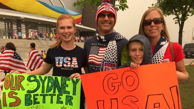 Fans from all across the United States are in Winnipeg to see the American women's team play.