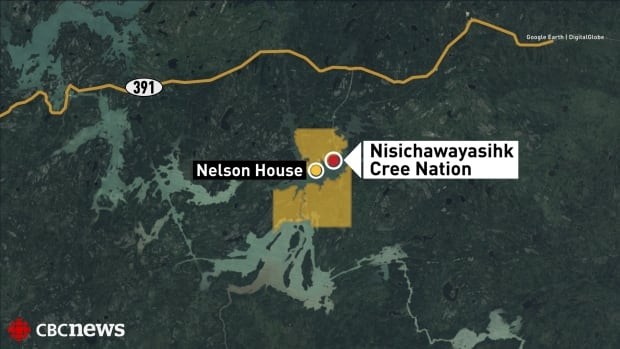 Nisichawayasihk Cree Nation map