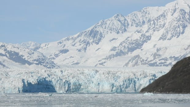 The Hubbard Glacier originates in the St. Elias Mountains of southwest Yukon, Canada's tallest mountain range. It terminates in Disenchantment Bay on the Gulf of Alaska, near the Russell Fjord.