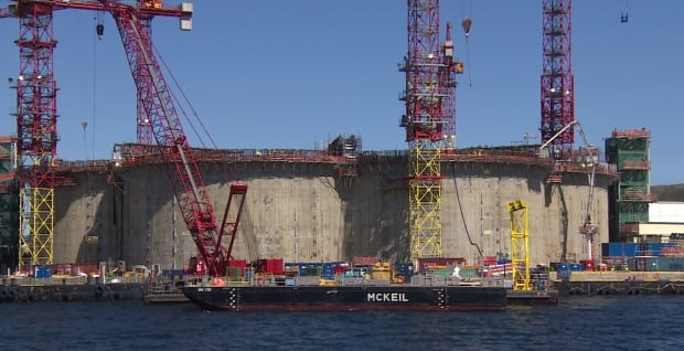 Hebron project at Bull Arm on June 10, 2015