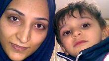 Maryam Rashidi and her son Koorosh, 6