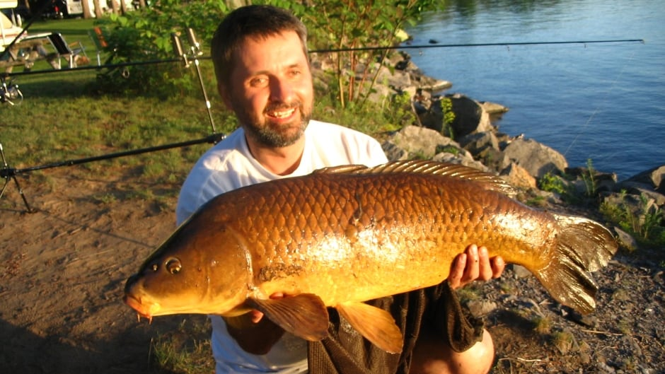 Lawrence Gunther with huge carp