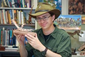 Scott Persons and velociraptor claw