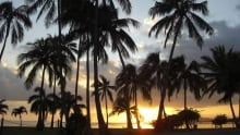 Sunset near Honolulu, Oahu, Hawaii, USA