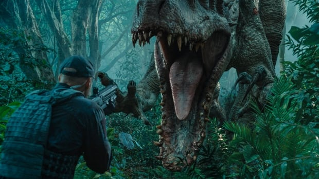 The Indominus rex is about to attack in a scene from the film Jurassic World. The movie is coming to a theatre near you on June 12.