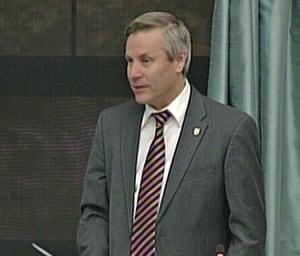 MLA Rob Henderson in the legislature