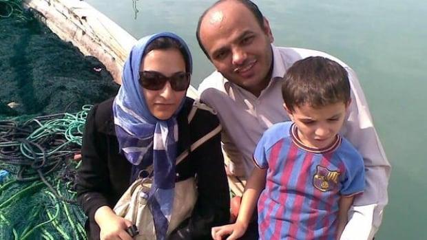 Maryam Rashidi and her husband, Ahmad Nourani Shallo, with their son Koorosh in an undated family photo.