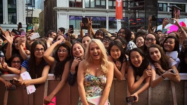 Sandi Ball pictured with fans at the YouTube FanFest event in Toronto in May.