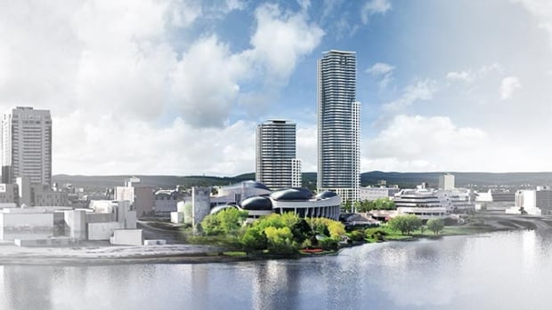 The proposed towers - a 35-storey tower and a 55-storey one - would be built directly across from the Canadian Museum of History in Gatineau.
