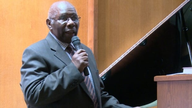 Longtime church member and jazz great Oliver Jones performed at the service Sunday.