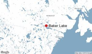 Baker Lake, Nunavut map