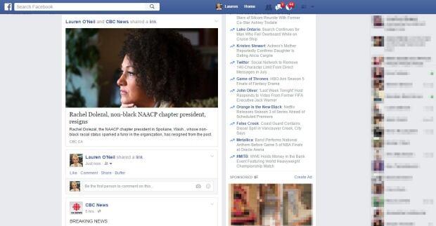 Facebook Newsfeed June 2015