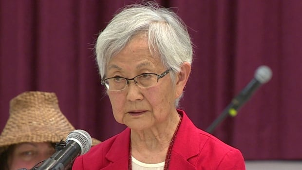 Mary Kitagawa says her family was forced to endure years of internment and work camps around the time of the Second World War.