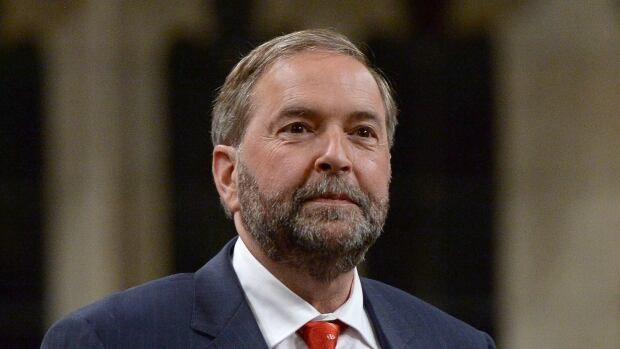 NDP Leader Tom Mulcair told the Economic Club of Toronto that New Democrat governments have a good record when it comes to balanced budgets — except for that guy in Ontario who turned out to be a Liberal.