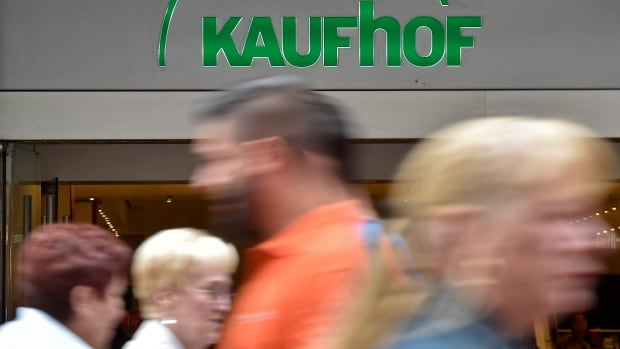 People passing a Galeria Kaufhof store in Gelsenkirchen, Germany, on Monday. HBC will take over the retailer, which faces all the same pressures as department stores in Canada.