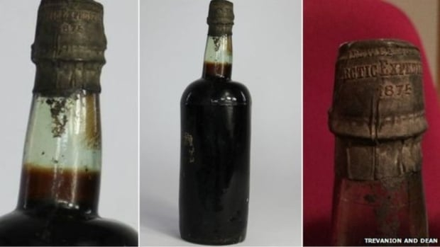 A bottle of beer thought to have travelled to the Arctic Circle in the late 19th century sold at auction this week for $6,300.