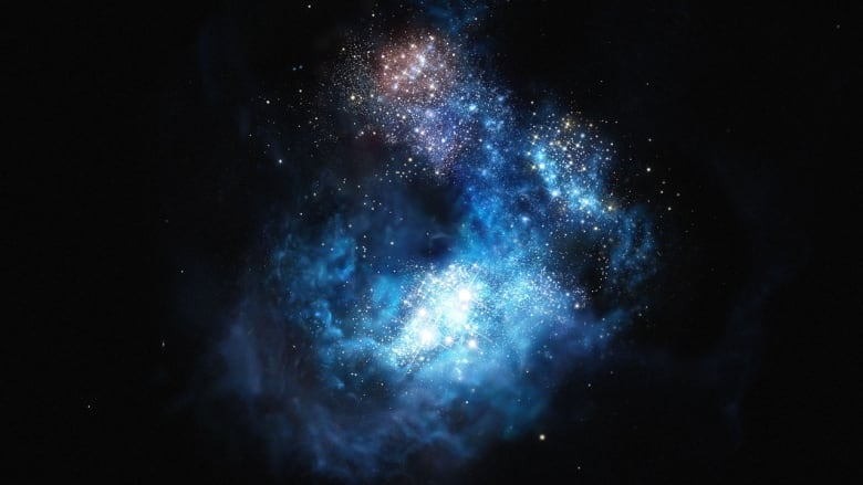Artist's impression of CR7: the brightest galaxy in the early