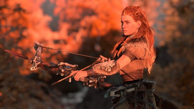Aloy is the bow-wielding huntress starring in Horizon Zero Dawn. She's one of several new female characters previewed at E3 this year.