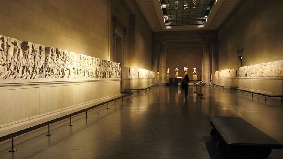 The Parthenon Marbles were removed from Greece by the British in the early 1800s. Greece has continually called for their repatriation, though there is no international authority that can enforce it.