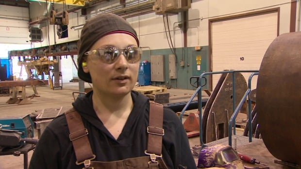 Welder Chenda Levy landed a job close to home, thanks to the booming business.