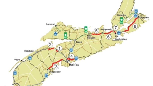 A province-wide tolling feasibility study is being conducted for eight parts of Nova Scotia's 100-series highways.