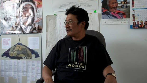 Zacharias Kunuk, director of Cannes-award-winning Atanarjuat: The Fast Runner, sits in his office in Igloolik, Nunavut.