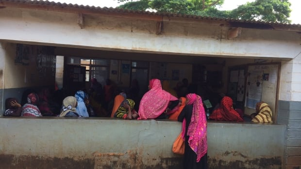 Patients wait to see a medical attendant at Kivunge Hospital in Zanzibar, off the coast of Tanzania. The hospital has received equipment with funding from Canada's Muskoka Initiative for maternal and child health.