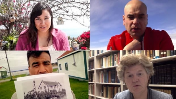 Indigenous and non-indigenous people around Canada are uploading videos of themselves reading sections of the Truth and Reconciliation Commission's 388-page executive summary. They include Erica Violet Lee, top left; Joseph Murdoch-Flowers, top right; Brandon Pardy, bottom left; and Anne Crawford.