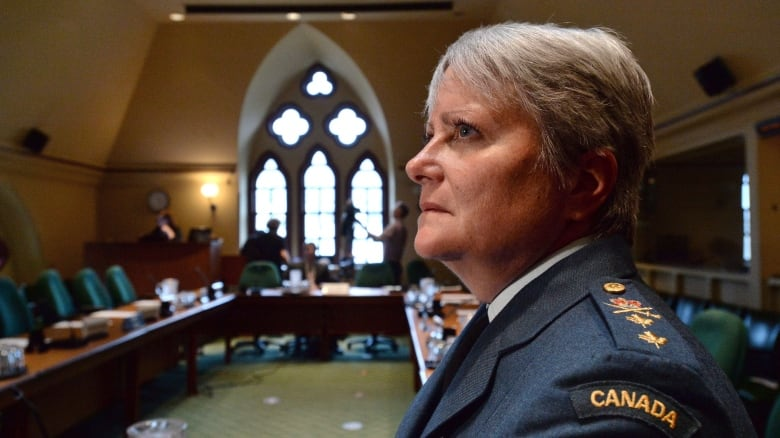 Lt.-Gen. Christine Whitecross, another potential contender for the job, has led the military's fight against sexual misconduct. (Sean Kilpatrick/Canadian Press)