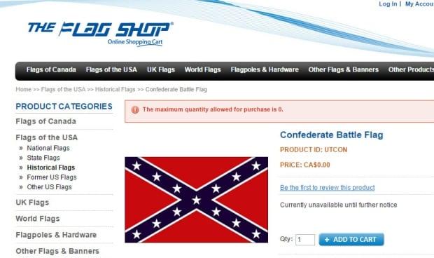 Flag Shop confederate battle flag