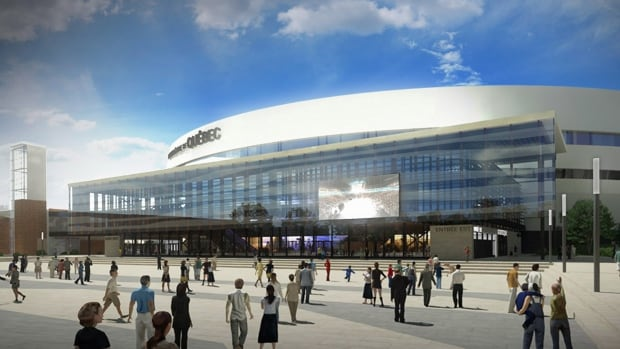 An artists's rendering of the new 18,259-capacity Videotron Arena in Quebec City: The building, which is scheduled to open in September, was designed with an expansion National Hockey League team in mind.
