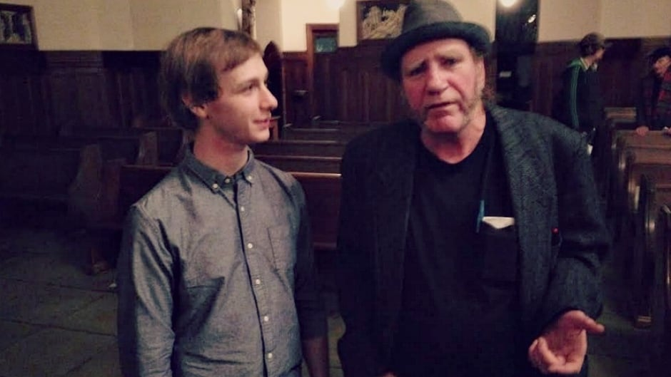 Composer Lucas Oikle & poet Joe Henry. They are part of a unique project in Vancouver where amateur writers from the city's Downtown Eastside are paired with classical composers.