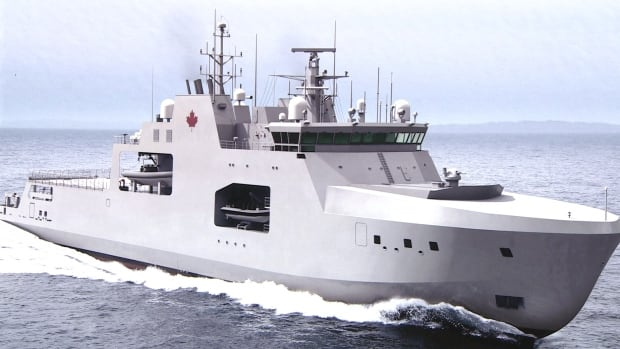 A concept image depicts one of the new Arctic offshore patrol ships that will be built in Halifax as part of the Irving Shipbuilding contract.