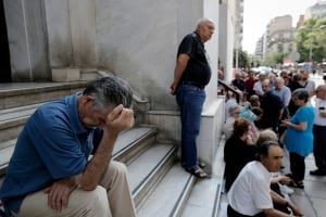 GREECE banks pensioners
