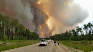 Fire near Montreal Lake