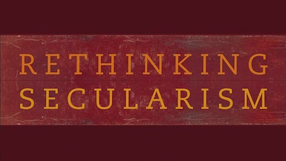 "Detail from the book cover ""Rethinking Secularism"" edited by Craig Calhoun, Mark Juergensmeyer, Jonathan VanAntwerpen."