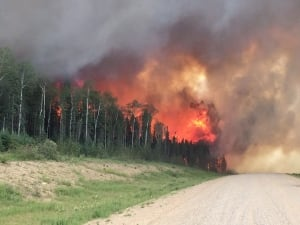 Sask Wildfires June 29 2015 Hwy 969