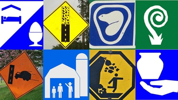 Instead of trying to decipher Canada's confusing road signs during a trip to New Brunswick, the Boston Globe's Ty Burr came up with some creative interpretations of his own.