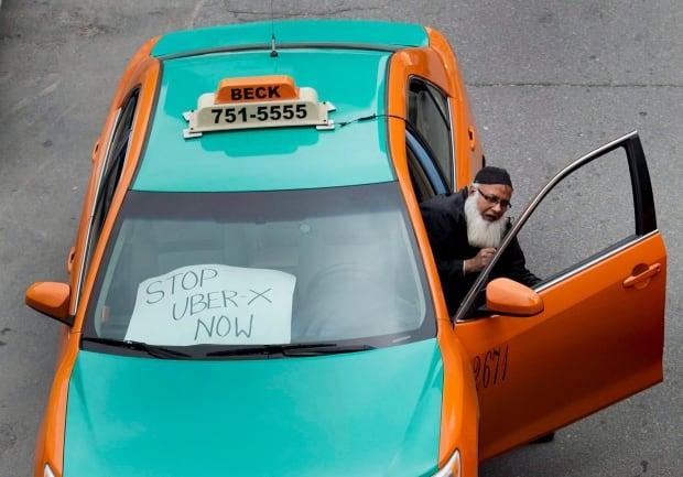 Toronto Beck Uber protest