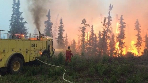 Wildfires burn near La Longe.