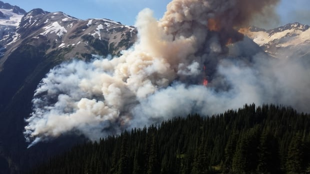 There are 189 active fires throughout B.C. as of noon Wednesday, including the Boulder Creek fire north of Pemberton which is 5,000 hectares in size and growing.