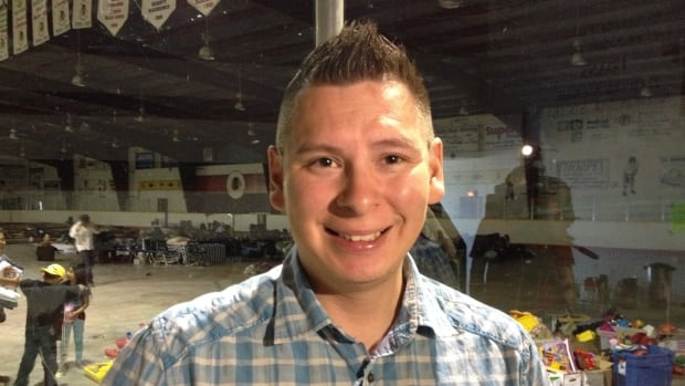Kevin Seesequasis, band councillor for the Beardy's and Okemasis First Nation, has helped set up a shelter at the band's hockey arena for Saskatchewan wildfire evacuees.