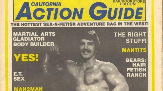 """The first known use of the word bear on the cover of a gay magazine"""" (image courtesy of Jack Fritscher)"""