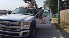 SaskPower Truck