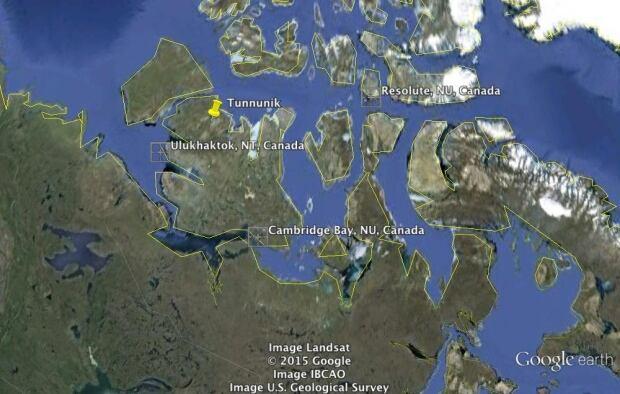 Location of Tunnunik crater