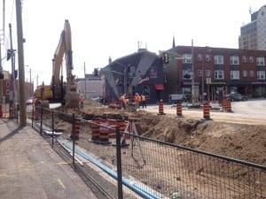 Charles Street construction