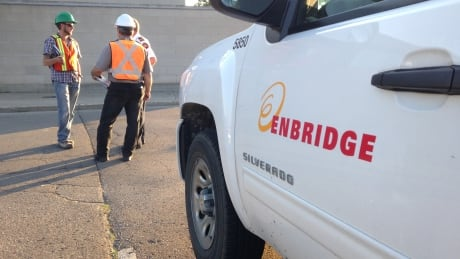 Enbridge Gas investigate a carbon monoxide leak in the Robert McLaughlin Gallery in OshawaFriday.
