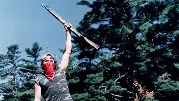 A picture taken during the Oka Crisis on July 11, 1990.