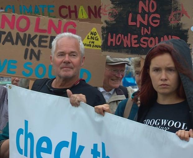 LNG protest Horseshoe Bay